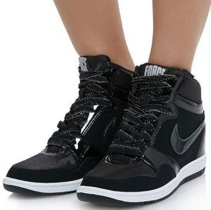 Nike Force Sky High Top Hidden Wedge Sneakers